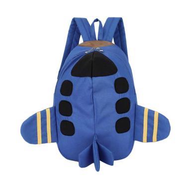 Lansdeal Plane Pattern Animals Kids Backpack - Blue