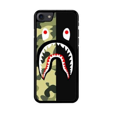 Flazzstore Half Camo Bape Shark Fac ...  for iPhone 7 or iPhone 8