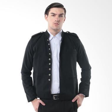 Alphawear Stylish Fashionable Blazer Jacket Pria - Hitam