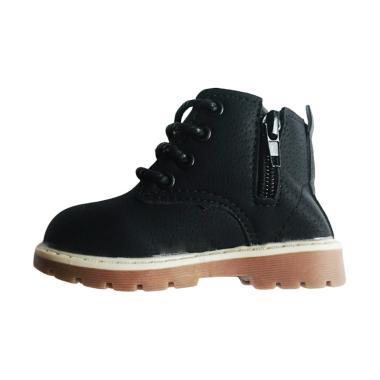Sport Tali Kets Ankle Boots Sepatu Anak - Black