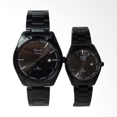 Alexandre Christie Classic Jam Tangan Couple - Black [AC8560MD/LD]