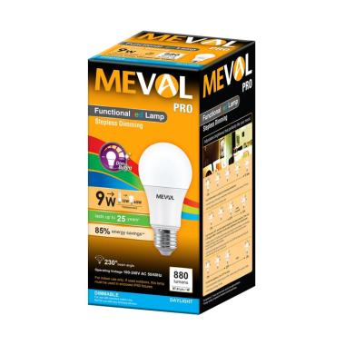 Meval Stepless Dimming PRO LED Bulb Bohlam Lampu [9 watt]