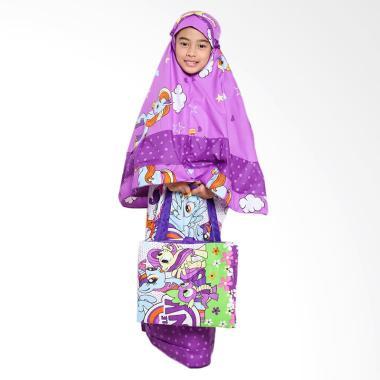 Zahra Kids Little Pony Polkadot Mukena Anak - Purple
