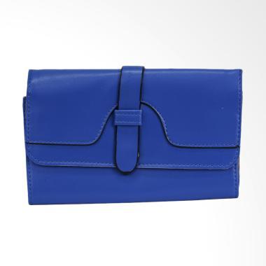Shine Accessories WB1172 Blu Kulit Polos Belt ELT S.42 Dompet Wanita