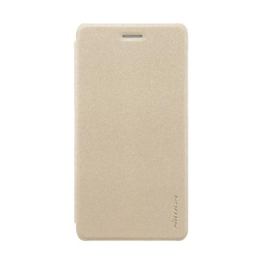 Nillkin Flip Sparkle Leather Casing for Nokia 7 - Gold