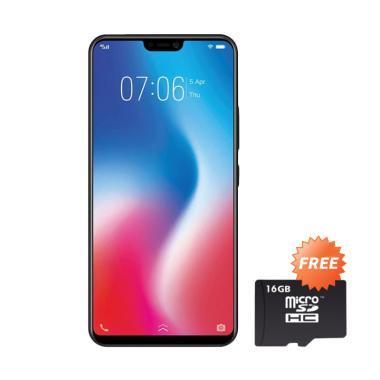 VIVO V9 Smartphone - Black [64GB/ 4GB] + Free MMC 16 GB