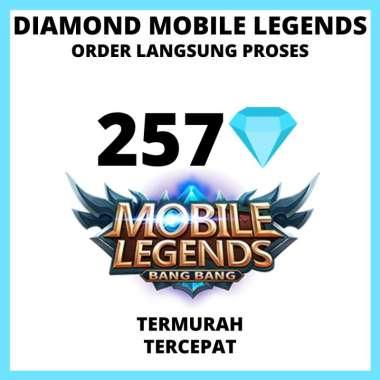 [257 DIAMOND] Diamond ml / diamonds ml / topup mobile legends /topup diamond mobile legend termurah tercepat