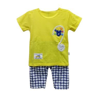 Import Kid Impo1401 Setelan Baju Bayi Laki-Laki - Yellow [Size 110]