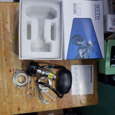 lampu led MYTH 6 sisi h6 motor bebek h4 vixion byson pendingin kipas