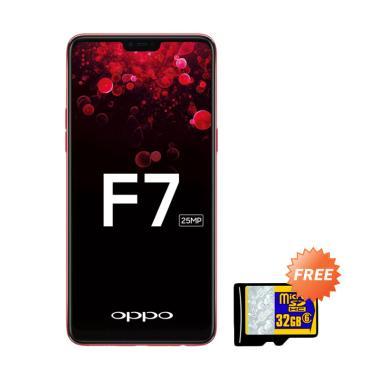 OPPO F7 Smartphone - Red [64 GB/ 4 GB] + Free MMc 32 GB