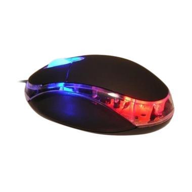 Votre KM-309 Led Lampu Kabel Universal USB Optic Mouse - Black