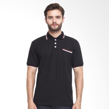 CBR Six Wangky Polo Shirt Pria - Hitam [FFC 269]