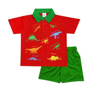 MacBear Polo Kind Of Dino Kids Setelan Baju Anak