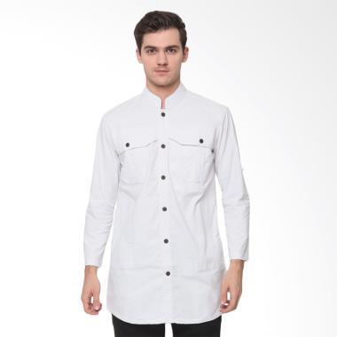 Zayidan Nabhan Baju Muslim Gamis Pria - Putih