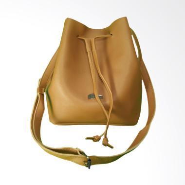 KarnaKamu Tali Serut Simple Sling Bag Wanita - Brown 96eb5590d8
