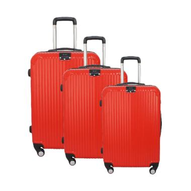 KATF - Real Polo GGEJ Fiber ABS Hardcase Set Koper - Merah [Size 20/