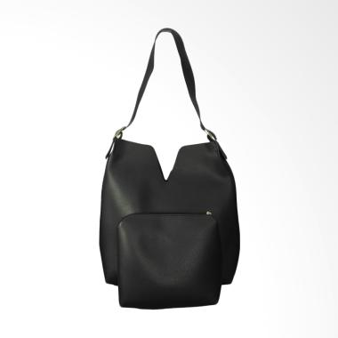 KarnaKamu High Quality Woman Shoulder Bag - Black