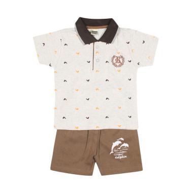 TOMPEGE TP-59211 Kerah Setelan Baju Anak Laki-laki - Coklat