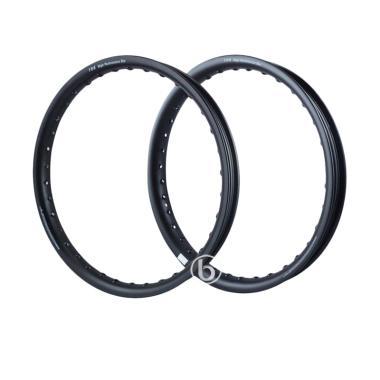 TDR U Shape Velg Rim Jari-Jari Moto ...  Hitam [Ring 14/ 140/160]