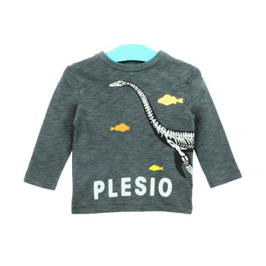 Cargo BG 18 Long Sleeve T-shirt Anak Laki-laki - Grey Charcoal Plesio