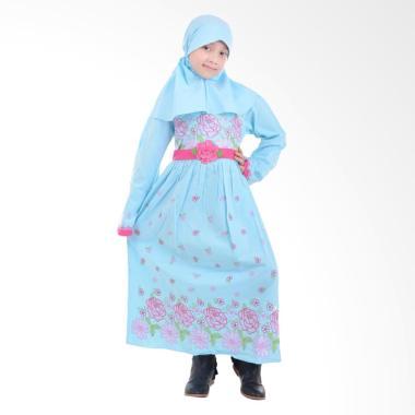 Jesca and Paul Qinaya 207 Gamis Baju Muslim Anak - Blue