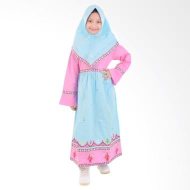 Jesca and Paul Isabel 223 Gamis Baju Muslim Anak - Blue