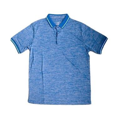 Ping Tai Fu Shi Polo Pakaian Fitness Pria - Biru Jeans [P016#]