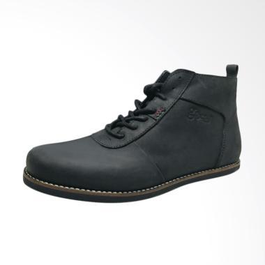 Grocks Gregano Sepatu Boot pria (br ... is erudite camel) - Hitam