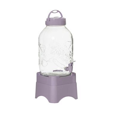 Harevin Kaca Dispenser Minuman with Standing - Ungu [5 L]