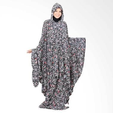 Boontie Arabela Alzeena Kalong Mukena - Black Putih Merah Motif