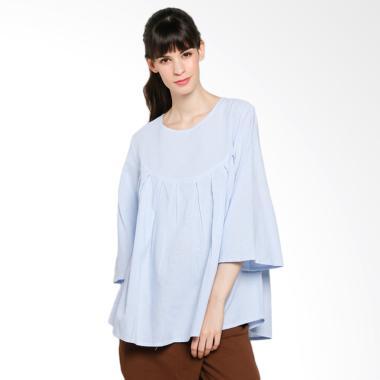 Rodeo 218.0328.BLU Blouse Shirt Polos Atasan Wanita - Blue