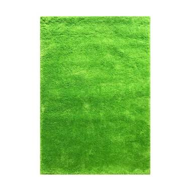 Vision Soft Shaggy Polos Karpet - Lime Green [110 x 160 cm]