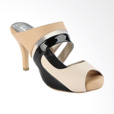 Farish Narita Heels Sandal Wanita - Beige