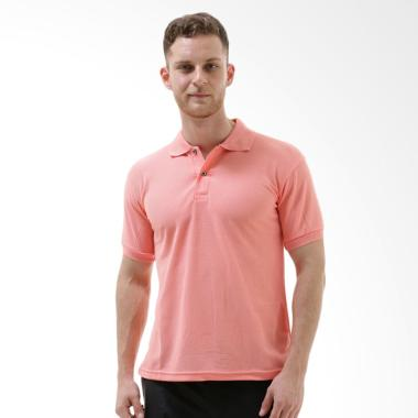 VM Tangan Pendek Kaos Polos Polo Shirt Pria - Pink Salem