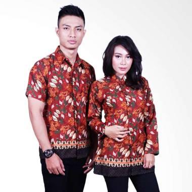 Batik Putri Ayu Solo SRB604 Blouse Set Batik Couple - Cokelat