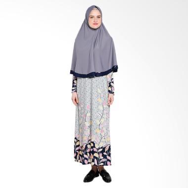 Koesoema Clothing Aisha Gamis Syari with Hijab - Grey [All Size]