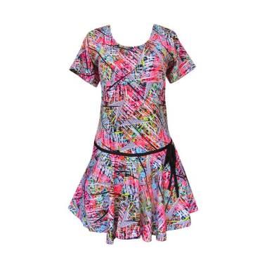 Rainy Collections Rok Jumbo Motif Abstrak Baju Renang Wanita - Pink