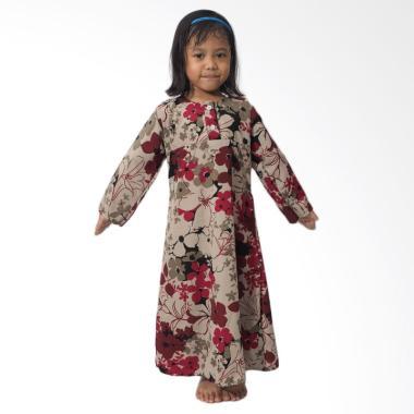 Mukena Dinda Aliya Gamis Anak Perempuan - Maroon Flower