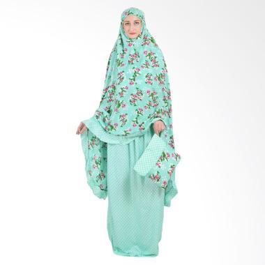 Koesoema Clothing Rayon Polka Floral Set Mukena - Hijau