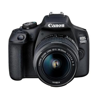 harga Canon EOS 1500D Kit 18-55mm IS II Kamera DSLR - Black Free Memory Card, Screen Guard, tas dan filter Blibli.com