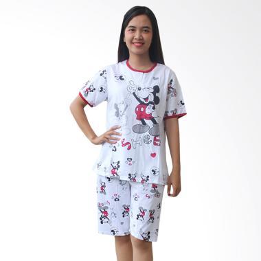 Aily AB11 Motif Mickey Mouse Setelan Baju Tidur Wanita