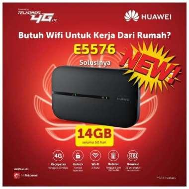 harga Huawei Modem Mifi E5576 + Telkomsel 14GB Unlock All Operator BLACK Blibli.com