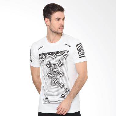 XTRAORDINARY Obl T-Shirt Atasan Pria - Putih [238780161]