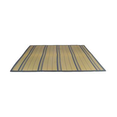 Hagihara Motif Garis Igusa Karpet - Biru