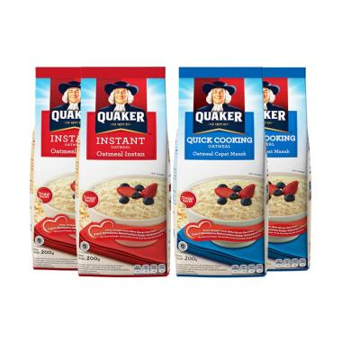 Quaker Instant & Quick Cooking Oatmeal [200g/ Mix Pack]