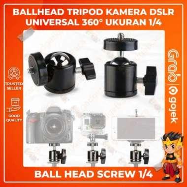 harga Jual Ball Head Tripod Kamera DSLR Extend Ballhead 14 Universal 360 Derajat Diskon Blibli.com