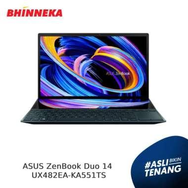 harga ASUS ZenBook Duo 14 UX482EA-KA551TS Celestial Blue Blibli.com