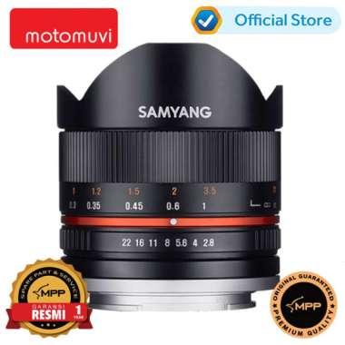 Samyang 8mm F2.8 Fish-eye II Fujifilm X - Hitam
