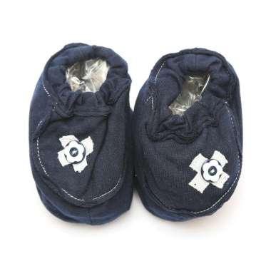 harga Cribcot Booties with Ribbon Sarung Kaki / Sepatu Bayi - Navy Blue & Broken White 0-3M Blibli.com