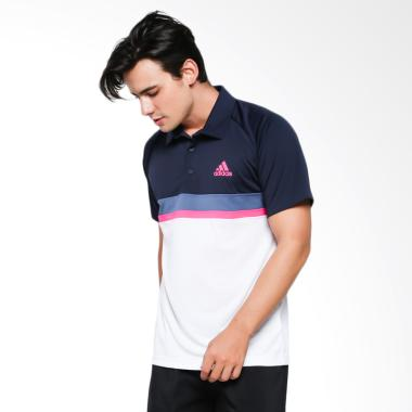 adidas Men Tennis Club Color Block Polo Shirt Pakaian Pria [D93018]